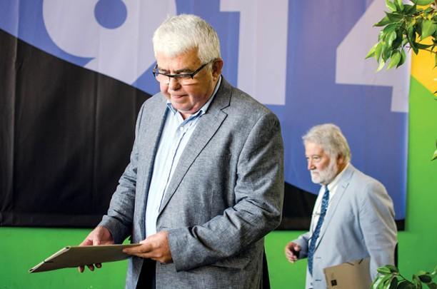 Agustí Alcoberro i Joandomènec Ros (IEC). Fotografia de Carles Domènec.