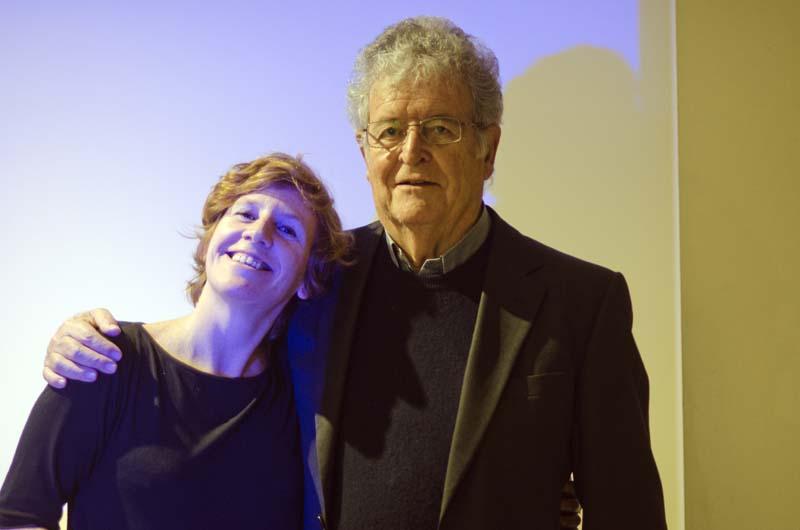 Eugènia Broggi i l'editor Xavier Folch. Fotografia de Carles Domènec.