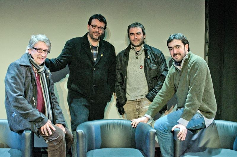 Editors d'Alrevés a Tiana. © Fotografia de Carles Domènec.