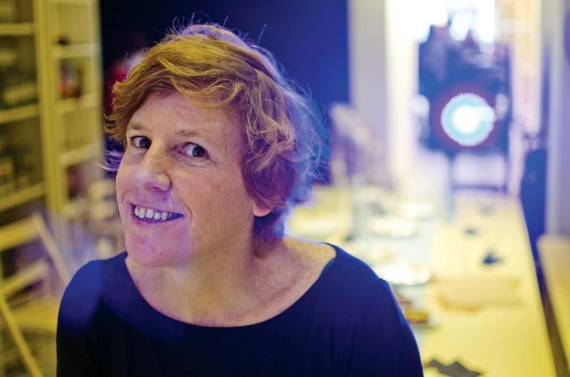 Eugènia Broggi al restaurant 'idò balear de Barcelona, després de la presentació de L'altra editorial. Fotografia de Carles Domènec