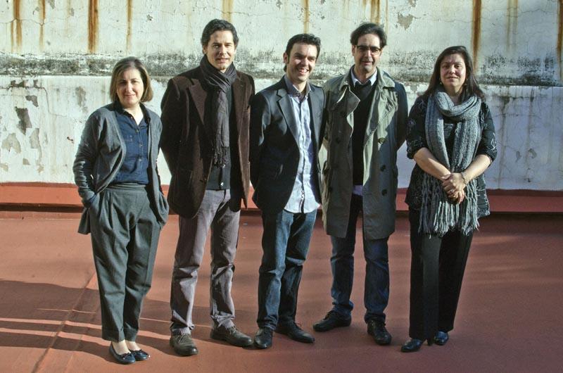 Els guardonats literaris. Fotografia de Carles Domènec.
