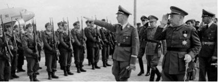 Heinrich Himmler a l'aeroport del Prat de Barcelona.