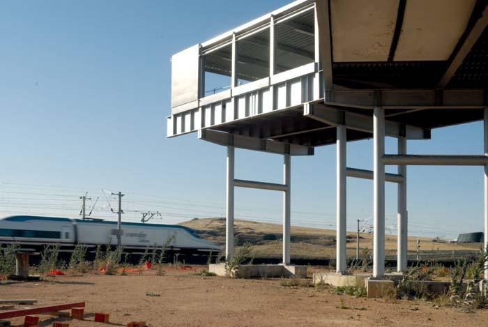 Estació de l'AVE sense acabar a l'aeroport de Ciudad Real. © Fotografia de Carles Domènec
