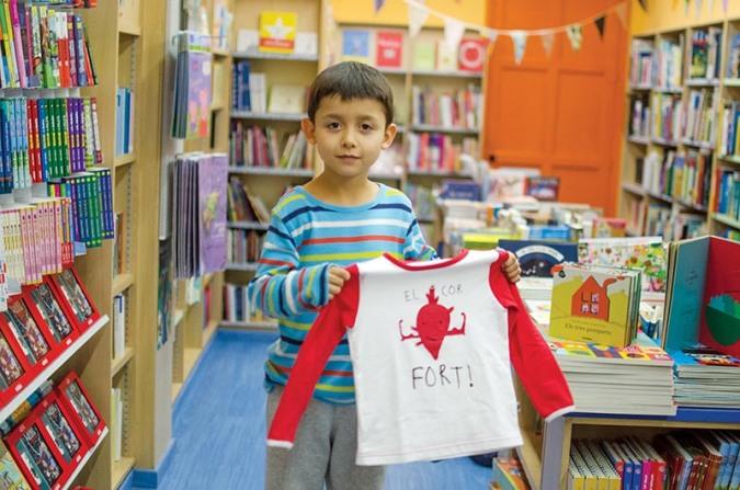 Teo Mariño Peñafiel a la llibreria Al·lots de Barcelona. © Fotografia de Carles Domènec.