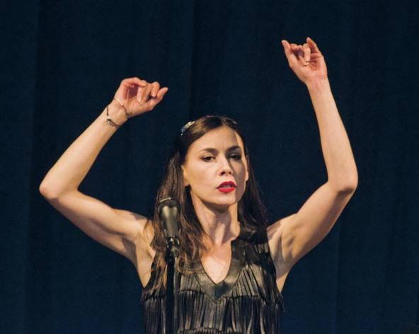 Olivia Ruiz a l'Institut Francès de Barcelona. © Fotografia de Carles Domènec