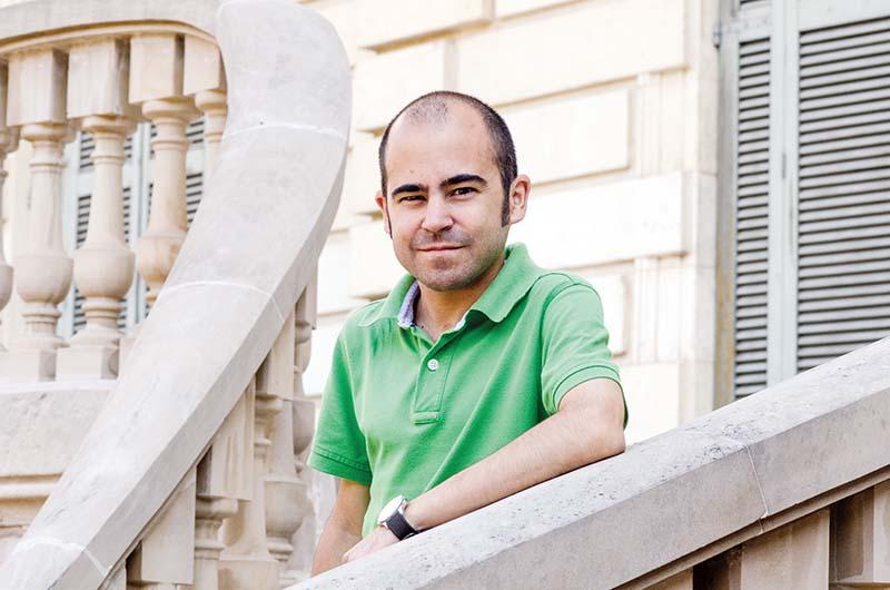 Joan Safont al Palau Robert de Barcelona. © Fotografia de Carles Domènec.