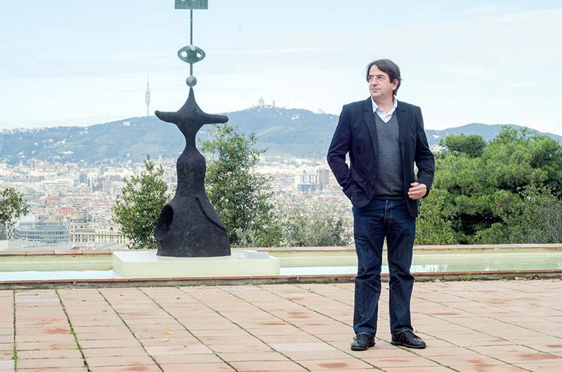 Ignasi Aballí a la Fundació Miró de Barcelona.  © Fotografia de Carles Domènec