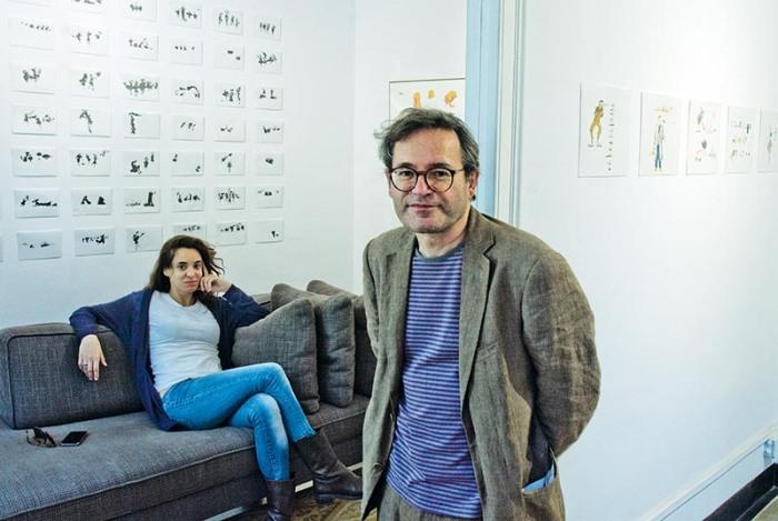 Pere Joan i la galerista de MCAM Gallery de Barcelona © Fotografia de Carles Domènec