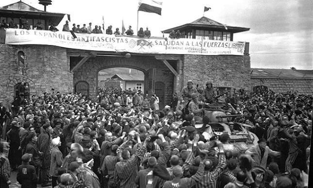 Una de las imágenes de Francesc Boix del día de la liberación de Mauthausen
