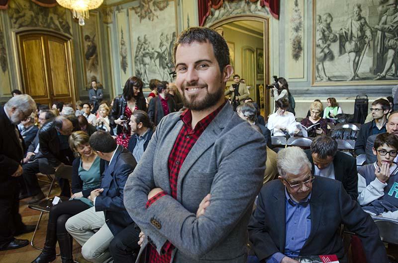 Jaume C. Pons Alorda al Palau Moja de Barcelona. Lliurament dels Serra d'Or © Fotografia de Carles Domènec