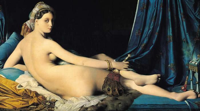 Jean Auguste Dominique Ingres (1780-1867), La gran odalisca, 1814. París, Musée du Louvre.