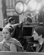 Claude Jade i Jean-Pierre Léaud al rodatge de 'Baisers volés' de Truffaut