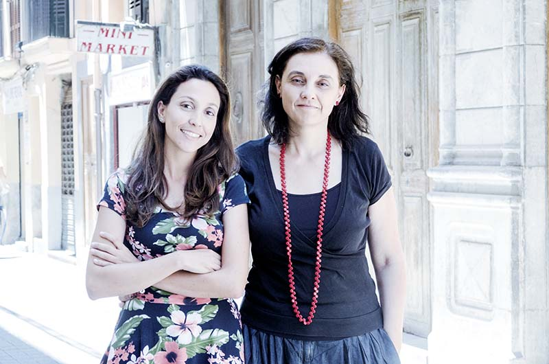 Irene Sala i Rosa Campomar a Palma  © Fotografia de Carles Domènec