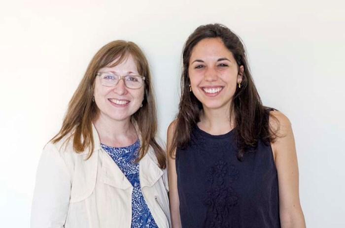 Pilar Argudo i Marina Cabanis a Barcelona © Fotografia de Carles Domènec