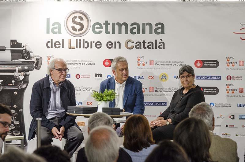 Lluís Bonada, Toni Puntí, Rosa Piñol. © Fotografia de Carles Domènec