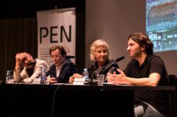 Ahmad Jalali Farahani, VI Premi Veu Lliure-PEN Català, a la roda de premsa de presentació del programa del Dia Internacional de l'Escriptor Perseguit  © Douglas Sielski