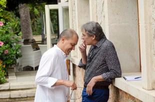 Els periodistes Winston Manrique i Josep Massot
