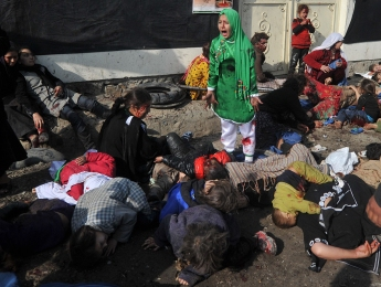 Fotografia de Massoud Hossaini, Premi Pulitzer 2012 en la categoria de 'Breaking News Photo'.