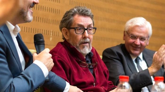 Barcelona 30 01 2017 Icult Homenaje de despedida de Paco Camarasa comisario de Bcnegra esta manana en el Palau de la Virreina Foto de Cesar Cid